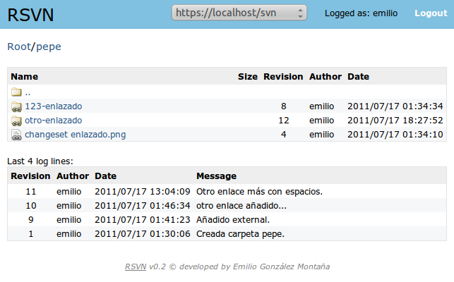 Browsing a repository with svn:externals