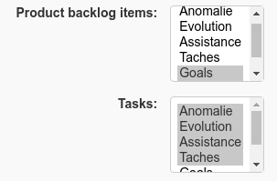 PBI and task tracker list